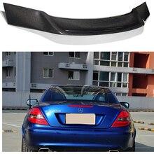 цена на Mercedes R171 R Style Carbon Fiber Rear Spoiler Wing for Benz SLK Class R171 2004 - 2010 SLK200 SLK280 SLK300 SLK350