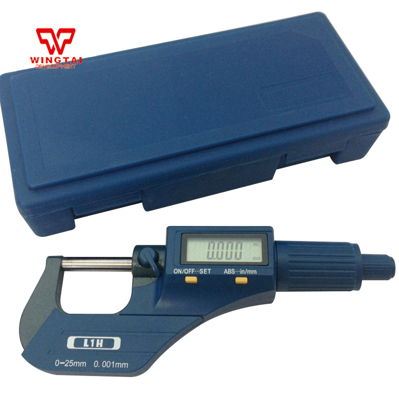 Korea Digital Outside Micrometer 0.001mm Resolution 0~25mm Micrometer Micron Thickness Gauge Measuring Tool XC04Korea Digital Outside Micrometer 0.001mm Resolution 0~25mm Micrometer Micron Thickness Gauge Measuring Tool XC04