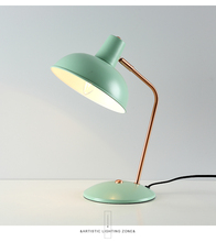Modern pink study table desk lamp Abajour Bedroom Bedside table lamp Nordic style green student Led desk Lamp Reading Escritorio