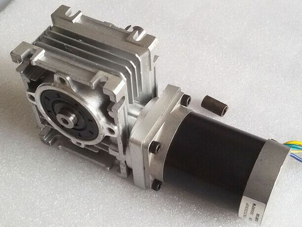57mm worm gearbox geared stepper motor ratio 20 1 nema23 l for Stepper motor gear box