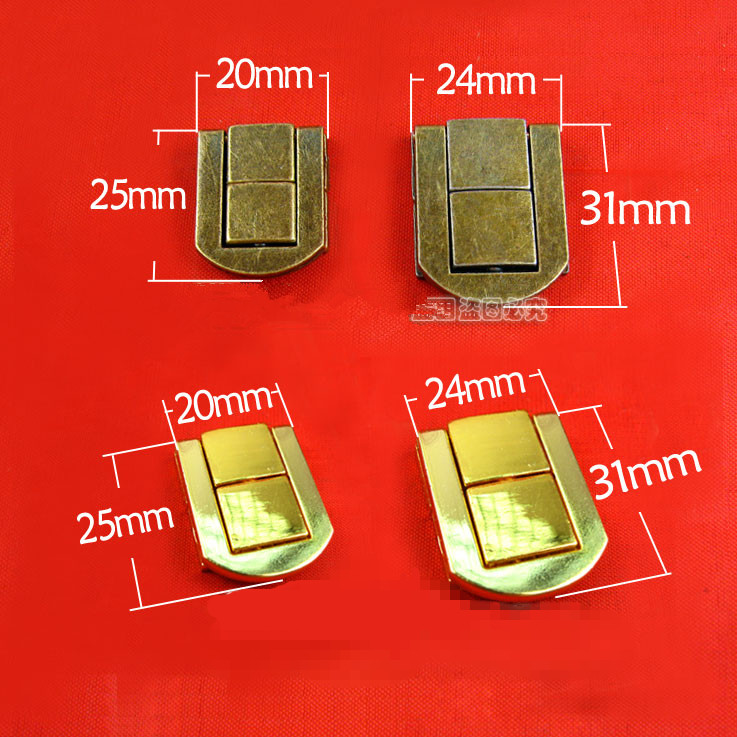31 24mm A001 solid Lock Fitting Camera obscura Package Wooden buckle DIY accessories storage box Large