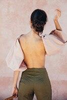 AEL модная Праздничная стильная женская блузка женские топы с вырезом на спине 2018 Новое поступление высокое качество