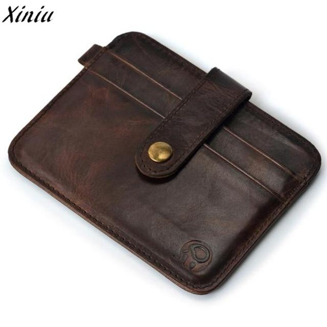 26f0ed891d95 Hot Sale Business Men Mini Wallet Coin Purse Vintage Leather Coin Slim Credit  Card Holder Mini Wallet ID Case Purse Clutch Pouch