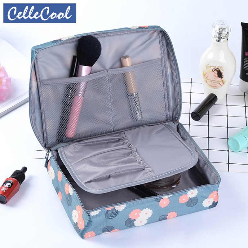 Venda quente Multifunction viagem Cosmetic Bag Mulheres Sacos de Maquiagem Organizador de Higiene Pessoal Armazenamento Make up Casos Femininos À Prova D' Água