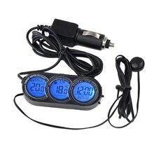 Мини Автомобильный цифровой часы Универсальный Автомобильный термометр оформление календарей часы с орнаментом автомобиль-Стайлинг Аксессуары