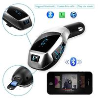 Wireless Bluetooth FM Transmitter Radio Adapter Car Kit With 5V 2 1A USB Car Charger MP3