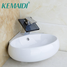 Kemaidi Bathroom Ceramic Basin Sink Faucet Set Bacia Set Torneira Pia High Quality Wash Basin Vanity Waterall Tap With Drain Buy Cheap In An Online Store With Delivery Price Comparison