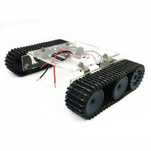 Acrylic Tank Robot Chassis DC9-12V Tracked Vehicle DIY Unassembled Kit Accessory tank chassis smart car tracked vehicle chassis tank robot chassis metal motor belt encoder