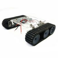 Acrylic Tank Robot Chassis DC9 12V Tracked Vehicle DIY Unassembled Kit Accessory