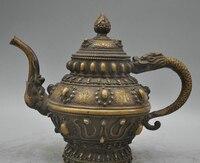 006844 11 Непала Буддизм бронза Медь Дракон реликвия рельеф чайник Скульптура статуя