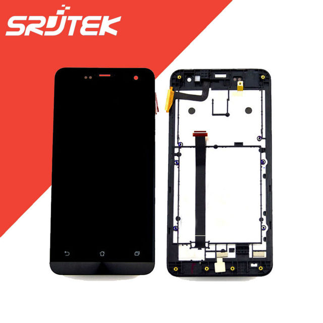 "For ASUS Zenfone 5 A500CG T00J LCD Display + Touch Screen Digitizer Panel with Frame Full Assembly 5.0"" inch 1280*720 Black"