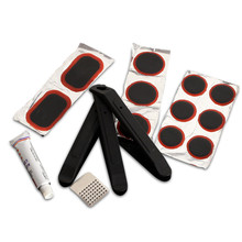 OUTERDO Multifunctional Bike Tire Tyre Repair Kit Cycling Tire Tools Set Bicycle Rubber Patch with Portable Plastic Packing Box