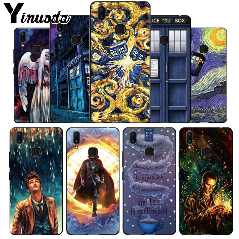 Yinuoda Tardis Box Doctor Who Fashion Bblack Soft Cover Phone Case For Vivo V9 X20 X20plus X21 X21 Ud Nex Y83 V7 X9s Coque Invigorating Blood Circulation And Stopping Pains Half-wrapped Case
