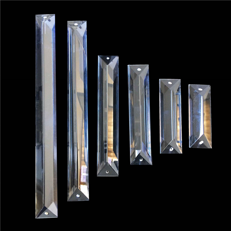 Free Shipping 100pcs/Lot 22 X 63mm-300m In 2 Holes Crystal Chandelier Trimming,Crystal Chandelier Parts,Crystal Curtain Pendant.