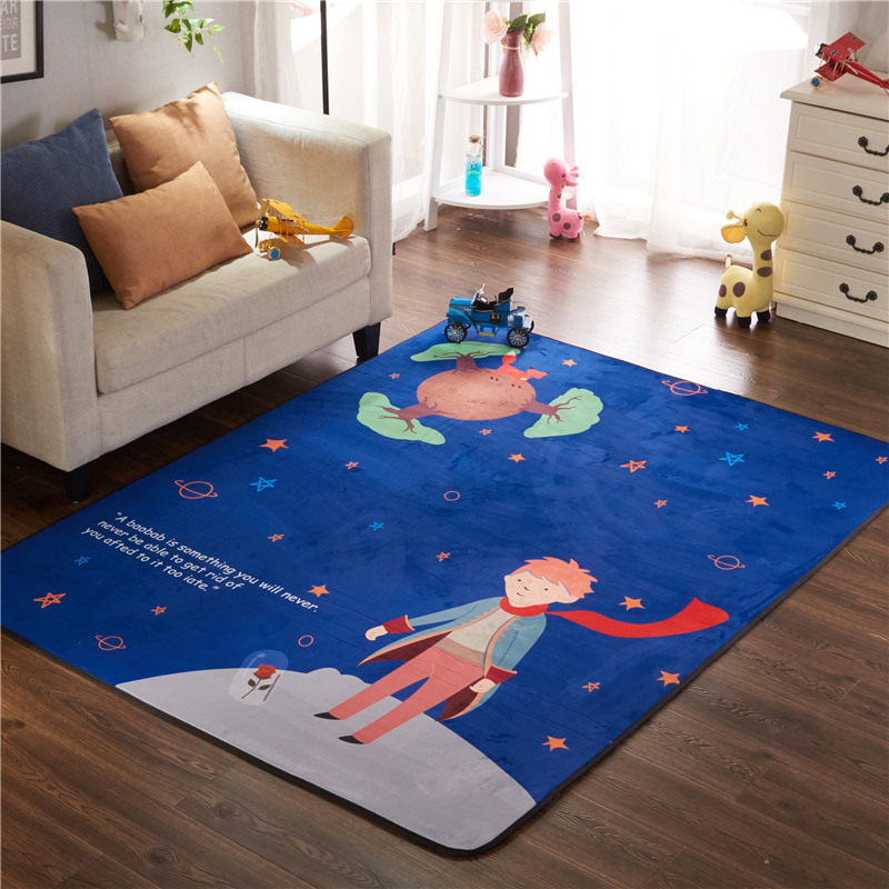 Infant Shining Play Mat Thickened Living Room Mat Suede Childrens Non-slip Crawling Mat Climbing Mat Game Carpet Non-Toxic