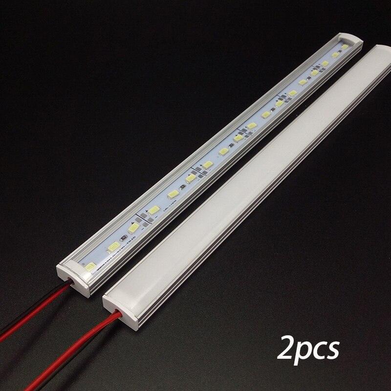 2pcs*50cm Factory Wholesale DC 12V SMD 5730 5630 LED Hard Rigid Strip Bar Light Aluminium Shell  Kitchen Led Lamp