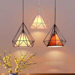 Image 1 - 現代の鉄塗装産業シャンデリアE27ダイヤモンドシャンデリアled 220 12v照明リビングルームキッチン寝室バーホテル