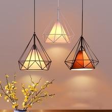 Современный Утюг роспись промышленные люстры E27 Алмаз Люстра светодио дный 220 В освещение для гостиной кухня спальня бар отеля