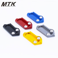 MTKRACING Bike Kickstand Extension Side Stand Enlarger Plate Pad With Logo For KYMCO AK 550 AK550