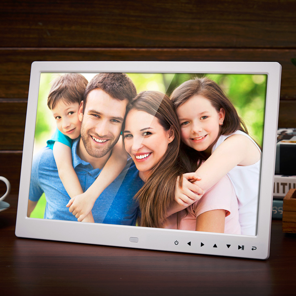 13 Inch 1280*800 HD Front Touch Digital Photo Frame High Resolution Wide Screen Picture Frame Photo Album Frame US/EU/UK Plug fixmee 50pcs white plastic invisible wall mount photo picture frame nail hook hanger