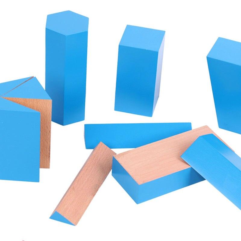 Matériaux en bois Montessori blocs géométriques constructifs jouets éducatifs d'apprentissage précoce pour enfants Juguetes Brinquedos MG1764H