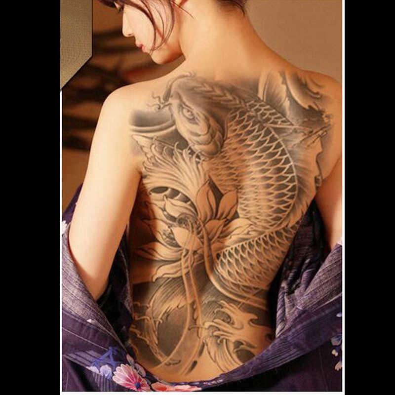 37eb2815e9782 ... 34x48cm Full Back Large Wings cross Gemstone dragon Waterproof  Temporary Tattoo Stickers Big Men Women Sexy ...