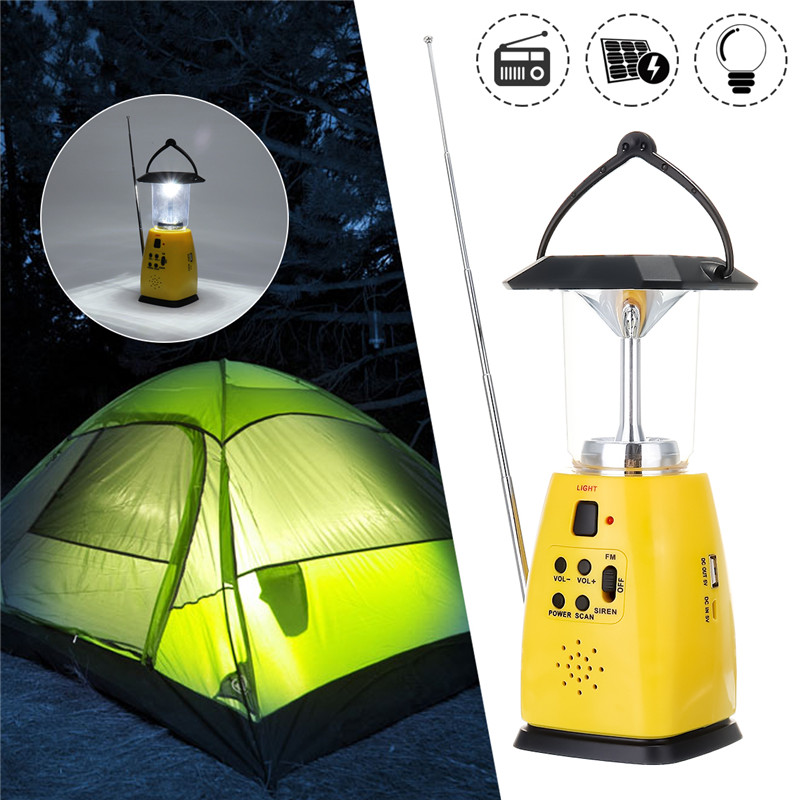 Newest Solar Powered Hand Crank Dynamo Emergency 8 LED Bulbs 2 Modes Outdoor Camping Lantern FM Radio Flashlight AAA Torch rechargeable mini led hand crank solar powered flashlight torch emergency light for outdoor camping hiking cycling