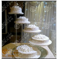 Custom Elegant Round 5 Tier Clear Acrylic Cupcake Pastry Stand Wedding Decoration