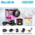 """Ultra HD 4 К WI-FI Спорт Действий Камеры в исходном H8R H8 с дистанционным управлением Двойной Экран 2 """"ЖК-Водонепроницаемый Шлем VR360 Видеокамеры DVR"""