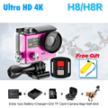 "Ultra HD 4K WIFI Sport Action Camera original H8R H8 with remote control Dual Screen 2""LCD Waterproof Helmet VR360 Camcorder DVR"