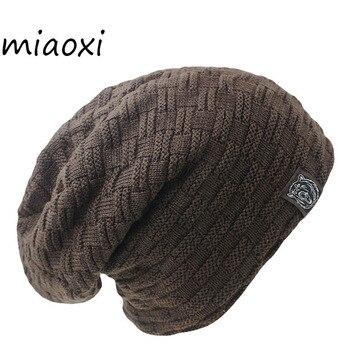 72887d852cb56 Miaoxi Nova Moda Das Mulheres Dos Homens de Neve Quente Inverno Gorros  Casuais Sólida 6 Cores Favorito Chapéu Do Knit Cap Hip Hop Casuais gorro  masculino