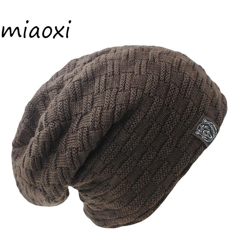 Miaoxi New Fashion Men Women Warm Snow Winter Casual Beanies Solid 6 Colors Favourite Knit Hat Cap Hip Hop Casual Male Bonnet