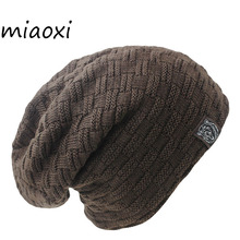 miaoxi New Fashion Men Women Warm Snow Winter Casual Beanies Solid 6 Colors Favourite Knit Hat