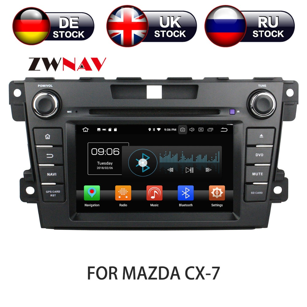 Android 8 Car DVD Player GPS Navigation For Mazda CX-7 2008-2015 Multimedia HeadUnit stereo tape recorder 2 din radio наградная статуэтка главному защитнику нашей семьи