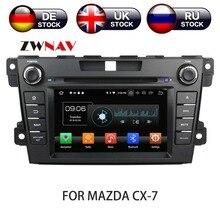 Android 8 Автомобильный dvd-плеер gps навигация для Mazda CX-7 2008-2015 мультимедийная Главная панель стерео магнитофон 2 din радио