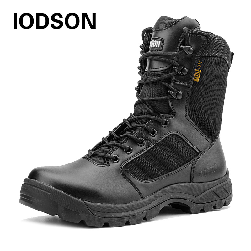 Black Combat Ankle Boots Men's Tactical Military Special Force Boots Breathable Army Shoes Plus Size Autum/Winter