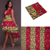 African Veritable Real Wax Prints 6yards Ankara Printed Fabric Super High Quality Cotton Fabrics Hollandais Good