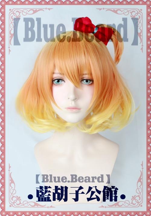 Macross Delta Wion Freyja Anime Short Mixed Gradient Hair Cosplay Costume Wig