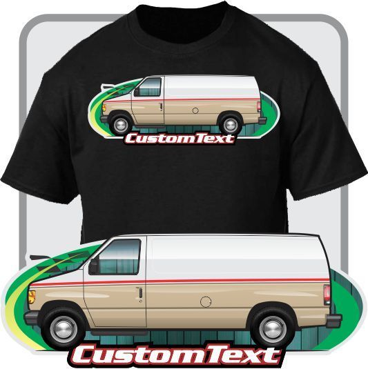 Print Men T Shirt Summer Custom Art Tee 1992-2014 Econoline Ambulance Rescue Not Affiliated with American Classic Car Fans Tee