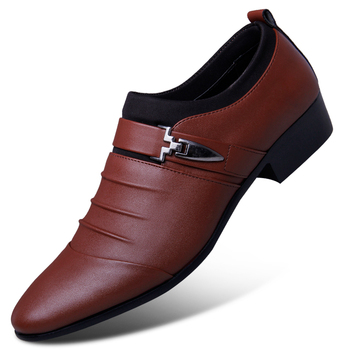 2019 summer black brown white men leather shoes mens pointed toe dress shoes high quality formal slip on hollow out sandals man 1