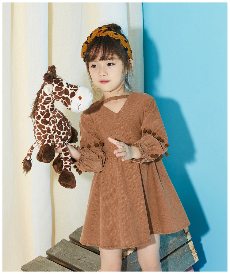girls dress long sleeve 2018 autumn new female baby cotton princess butterfly dress 2 3 4 5 6 7 years old baby girl clothes children s spring and autumn girls bow plaid child children s cotton long sleeved dress baby girl clothes 2 3 4 5 6 7 years