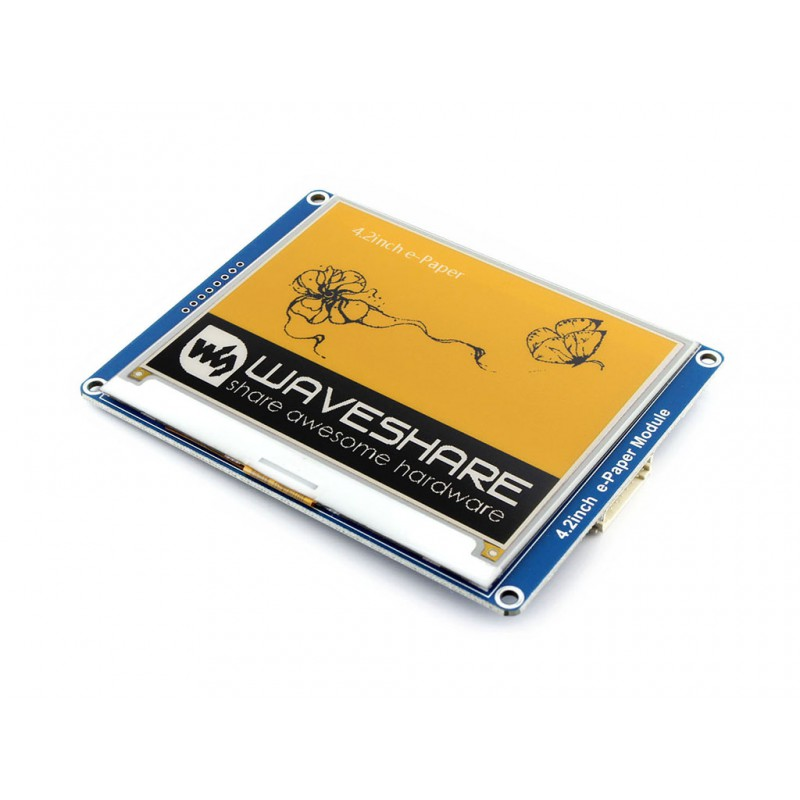 4 2inch E Ink Display Module with 400x300 Resolution Embedded Controller SPI Interface Yellow Black White