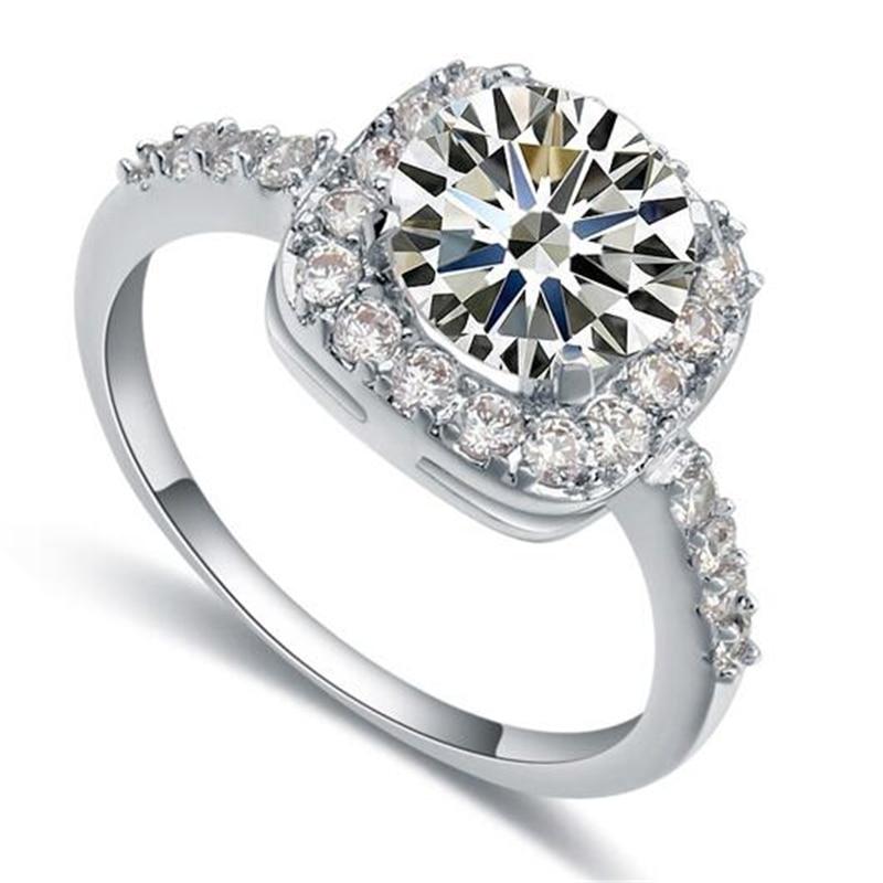 675985fd7 SHDEDE Luxury Cubic Zirconia Ring For Women Wedding Engagement Ring CZ  Fashion Jewelry *18713