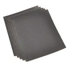 Papel de lija en seco y mojado, 230x280mm, grano 180, 400, 800, 1000, 1200, 1500, 2000, papel de lija, pulido, hojas de papel impermeable abrasivo