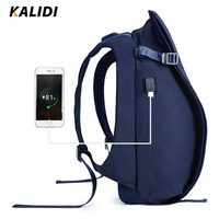 KALIDI Men Backpack USB Charge Anti Theft Laptop Backpack Waterproof Backpack For Men Women School Bag