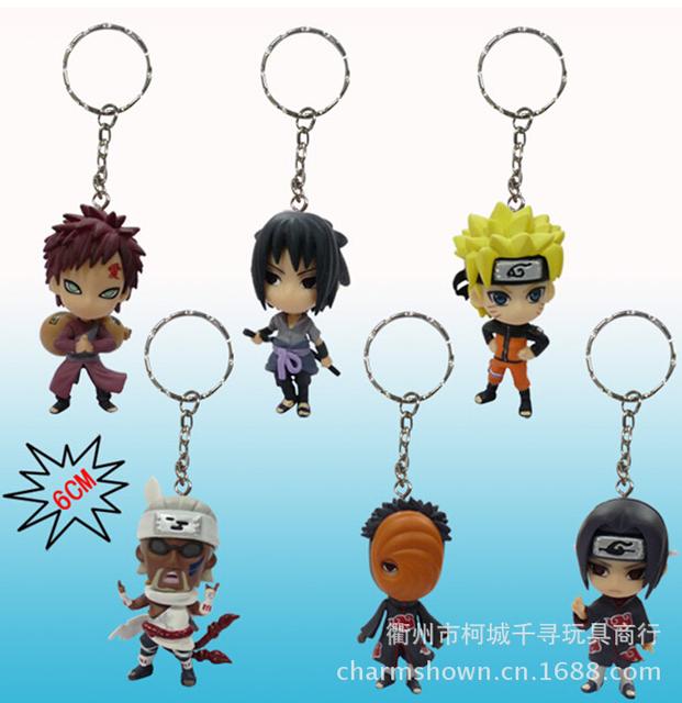 6 Pc. Naruto Key Chain Set