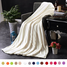 Kids Warm Flannel Blanket Coral For sofa air Throw Travel Manta Soft Beds Throws Fleece Solid Coberto