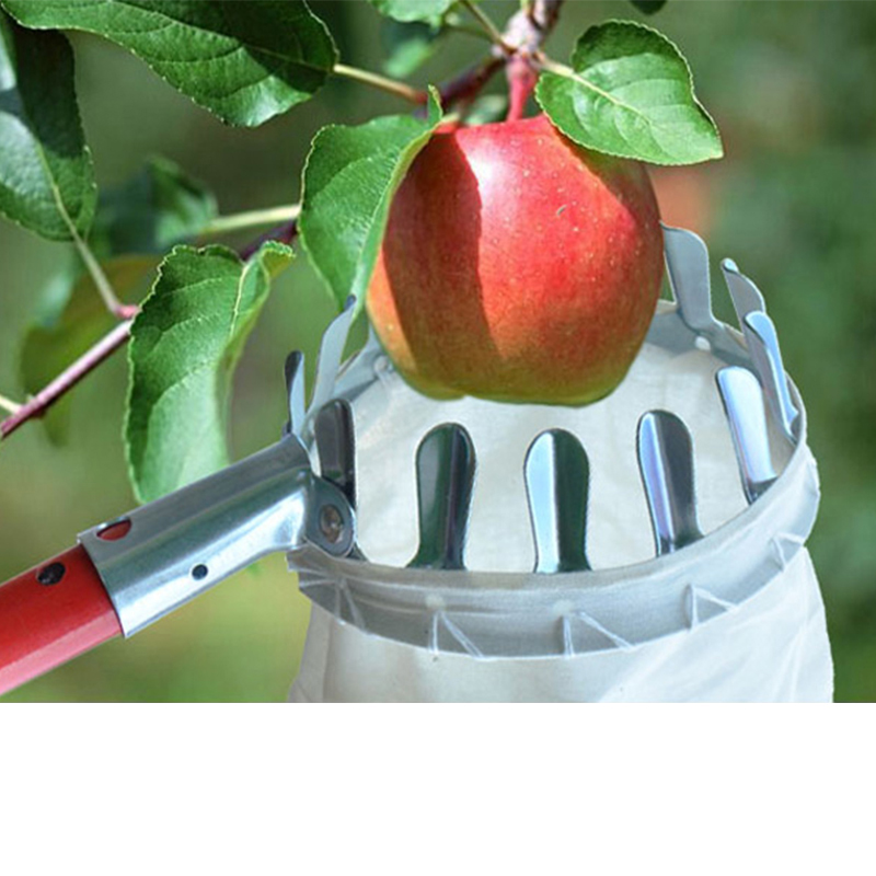 High Quality Metal Fruit Picker Convenient Gardening Tools Fruit Collector For Orchard Apple Peach High Tree Picking Hand Tools