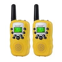 מכשיר הקשר Porster שחור / כחול / ורוד / 2pcs צהוב מיני מכשיר הקשר Kids רדיו תחנת RT388 0.5W PMR PMR446 FRS UHF רדיו נייד חדש (5)