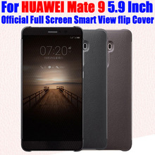 Case For HUAWEI MATE 9 Original 1:1 Official Full Screen Smart View Call ID Leather flip Cover for HUAWEI Mate9 5.9 Inch HM92